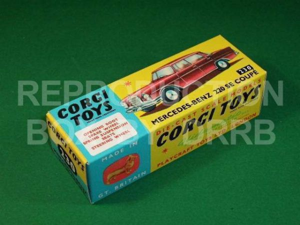 Corgi #230 Mercedes Benz 220SE Coupe - Reproduction Box